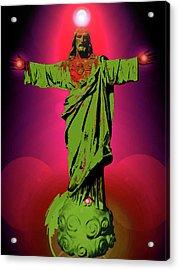 Jesus Bless No. 03 Acrylic Print by Ramon Labusch