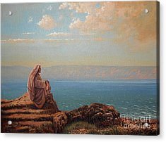 Jesus By The Sea Acrylic Print by Michael Nowak