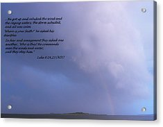 Jesus Calms The Storm Acrylic Print