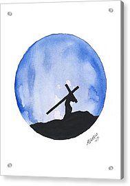 Jesus Carried His Own Cross Acrylic Print