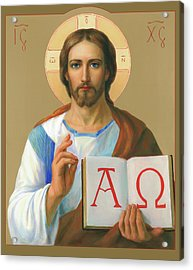 Jesus Christ - Alpha And Omega Acrylic Print