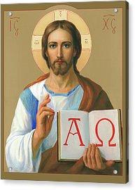 Jesus Christ - Alpha And Omega Acrylic Print by Svitozar Nenyuk