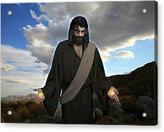 Jesus Christ- And He Withdrew Himself Into The Wilderness And Prayed Acrylic Print