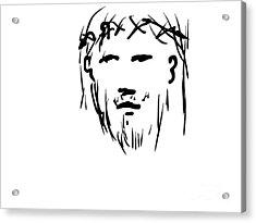 Jesus Christ Head Acrylic Print
