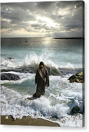Jesus Christ- I Have Come As A Light Into The World Acrylic Print