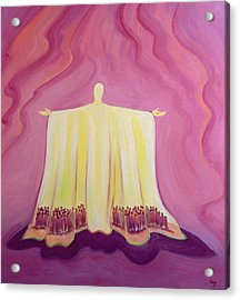 Jesus Christ Is Like A Tent Which Shelters Us In Life's Desert Acrylic Print by Elizabeth Wang