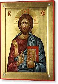 Jesus Christ Pantokrator Acrylic Print by Daniel Neculae