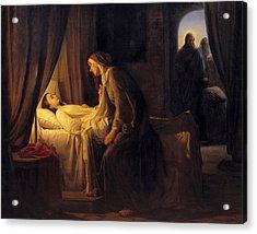 Jesus Christ Raising Daughter Of Jairus Acrylic Print
