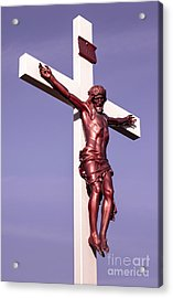 Jesus Crucifix Against The Sky 2 Acrylic Print by Gary Whitton