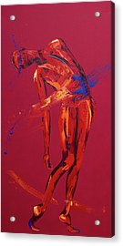 Jesus Falls For The Second Time  Station Seven Acrylic Print by Penny Warden