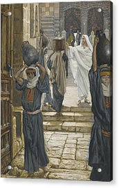 Jesus Forbids The Carrying Of Loads In The Forecourt Of The Temple Acrylic Print by Tissot
