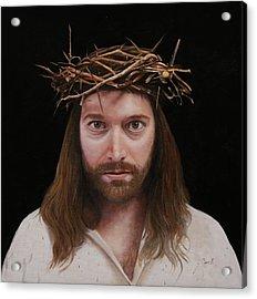 Jesus Acrylic Print by Guido Borelli