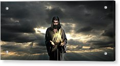 Jesus In The Clouds Acrylic Print