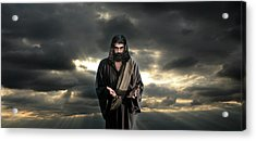 Jesus In The Clouds With Glory Acrylic Print