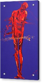 Jesus Is Condemned  Station 1 Acrylic Print by Penny Warden