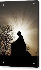 Jesus Is The Light Acrylic Print by Jeramie Curtice