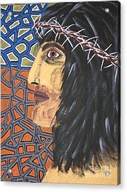 Acrylic Print featuring the painting Jesus by Jeffrey Koss