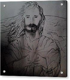 Jesus Light Of The World Full Acrylic Print