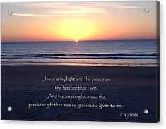 Jesus My Light Acrylic Print by Chris Jones