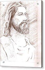 Jesus Acrylic Print by Nevis Jayakumar