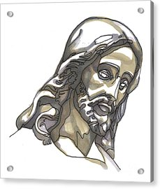 Jesus No 1 Acrylic Print by Edward Ruth