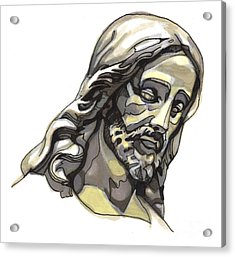 Jesus No 2 Acrylic Print by Edward Ruth