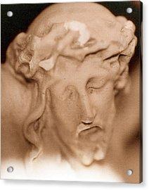 Jesus Acrylic Print by Paul  Trunk