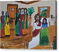 Jesus Raises A Dead Girl Acrylic Print