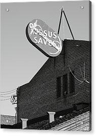 Jesus Saves Stockton Ca Acrylic Print by Troy Montemayor