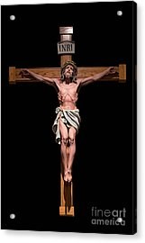 Jesus, Savior Of The World Acrylic Print by Bonnie Barry
