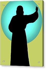 Jesus Shape No. 01 Acrylic Print by Ramon Labusch
