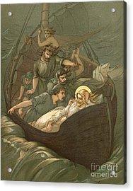 Jesus Sleeping During The Storm Acrylic Print by John Lawson