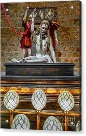 Jesus Suffering Acrylic Print by Adrian Evans
