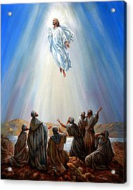 Jesus Taken Up Into Heaven Acrylic Print by John Lautermilch