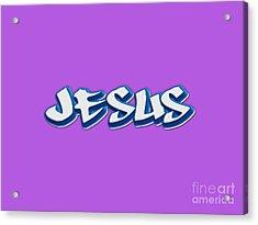 Jesus Tee Acrylic Print by Edward Fielding