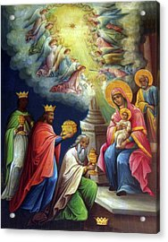 Jesus The King Acrylic Print by Munir Alawi