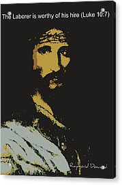 Acrylic Print featuring the painting Jesus The Son by Raymond Doward