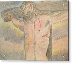 Jesus  Acrylic Print by Victoria Hasenauer