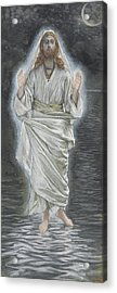 Jesus Walks On The Sea Acrylic Print by Tissot