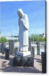 Jesus Wept 3 Acrylic Print by Betty LaRue