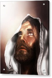 Jesus Wept Acrylic Print by Mark Spears