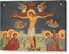 Jesus's Crucifixion Acrylic Print by Unknown