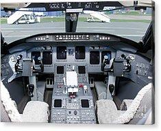 Jet Airplane Cockpit Acrylic Print