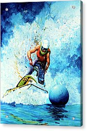 Jet Blue Acrylic Print by Hanne Lore Koehler