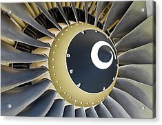 Jet Engine Detail. Acrylic Print by Fernando Barozza