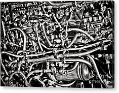 Jet Engine Acrylic Print by Olivier Le Queinec