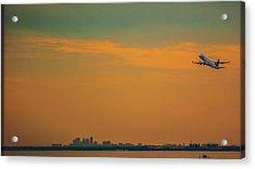 Jet Orange Acrylic Print by Jessica Graham