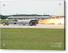 Jet Powered Funny Car Acrylic Print by Eric Irion