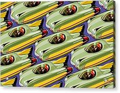 Jet Racer Rush Hour Acrylic Print