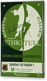 Jethro Tull Signed Poster Acrylic Print